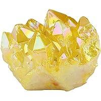 1 Pieza de Cristal de Citrino Amarillo Natural, racimo de Cuarzo, espécimen de Piedras Preciosas, estatuilla, decoración…