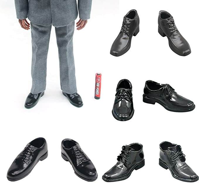 """1//6 Lace Up Dress Shoes for DML DID BBI 12/"""" Male Action Figure Body Clothes"""