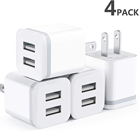 Amazon.com: Niluoya - Cargador de pared USB de doble puerto ...