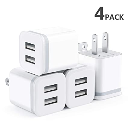 Amazon.com: Niluoya - Cargador de pared USB de doble puerto ...