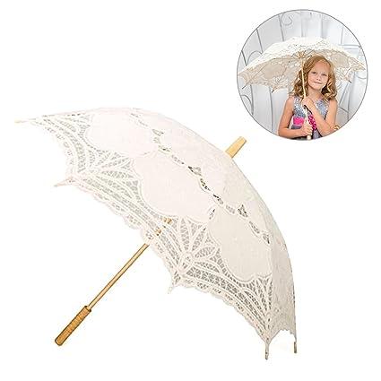 StageOnline Paraguas de Playa de Encaje, Paraguas de la Boda Paraguas Nupcial del cordón de