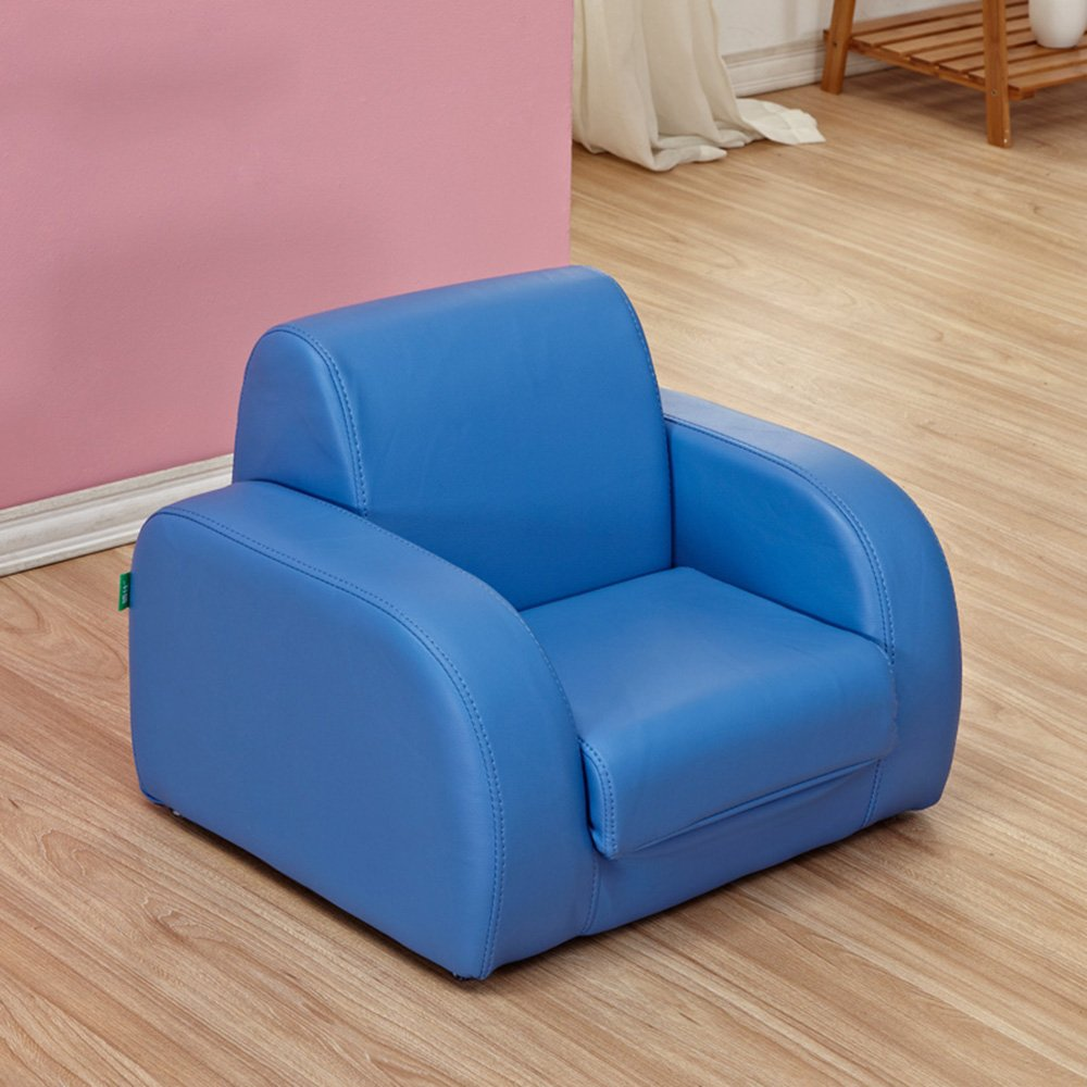 HAIZHEN Hocker Stühle Kinderkinder Blau PU Rosa PU Stuhl Sessel Sofa Sitzhocker Schlafen, Liegen, Sitzen Home Office bar (Farbe   Blau PU) Blau Pu