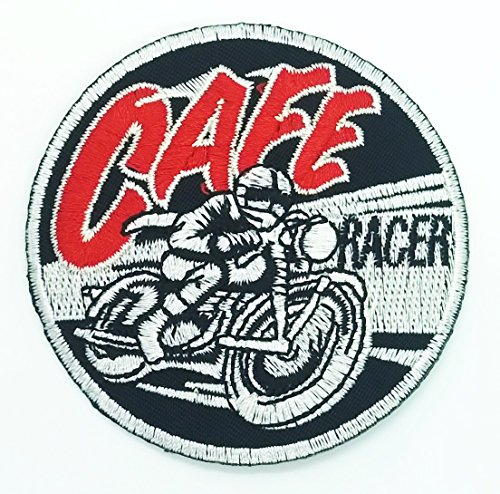 Cute Halloween Costume Ideas For Work (Cafe Racer patch Novelty patch Symbol Jacket T-shirt Patch Sew Iron on Embroidered Sign Badge Costume.3 x 3 inches.)