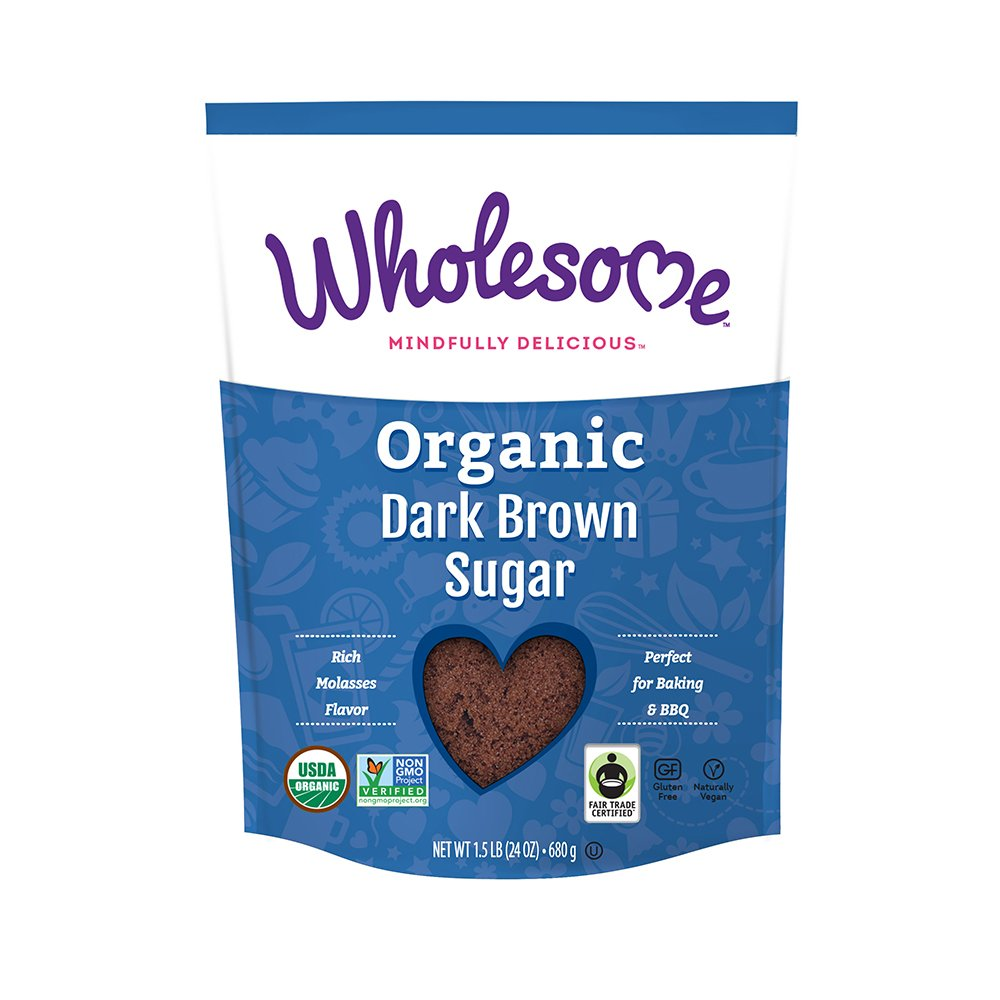 Wholesome Organic Dark Brown Sugar, 24 ounce (Pack of 6)