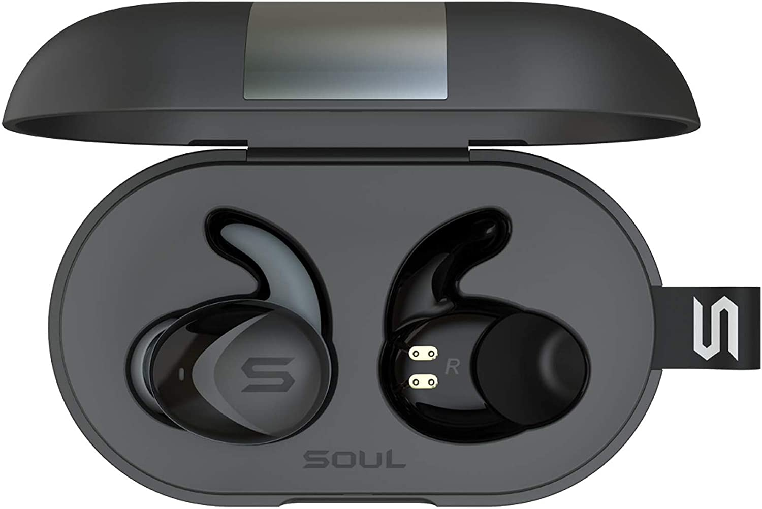 Soul Electronics ST-XS2 High Performance True Wireless Earphones, IPX7 Waterproof Bluetooth 5.0 Earbuds Noise Cancelling Sports Built-in Microphones for iPhone iPad Android Smartphones Tablets Laptop