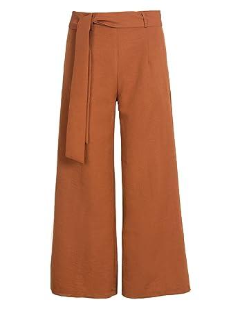 good service good selling high quality Oudan Femme Pantalons Large Fluide Elégant Pantalons Taille ...