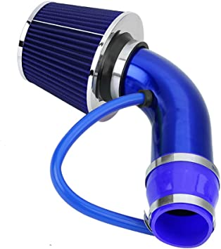 "BLUE 1999 UNIVERSAL 76mm 3/"" INCHES AIR INTAKE FILTER"