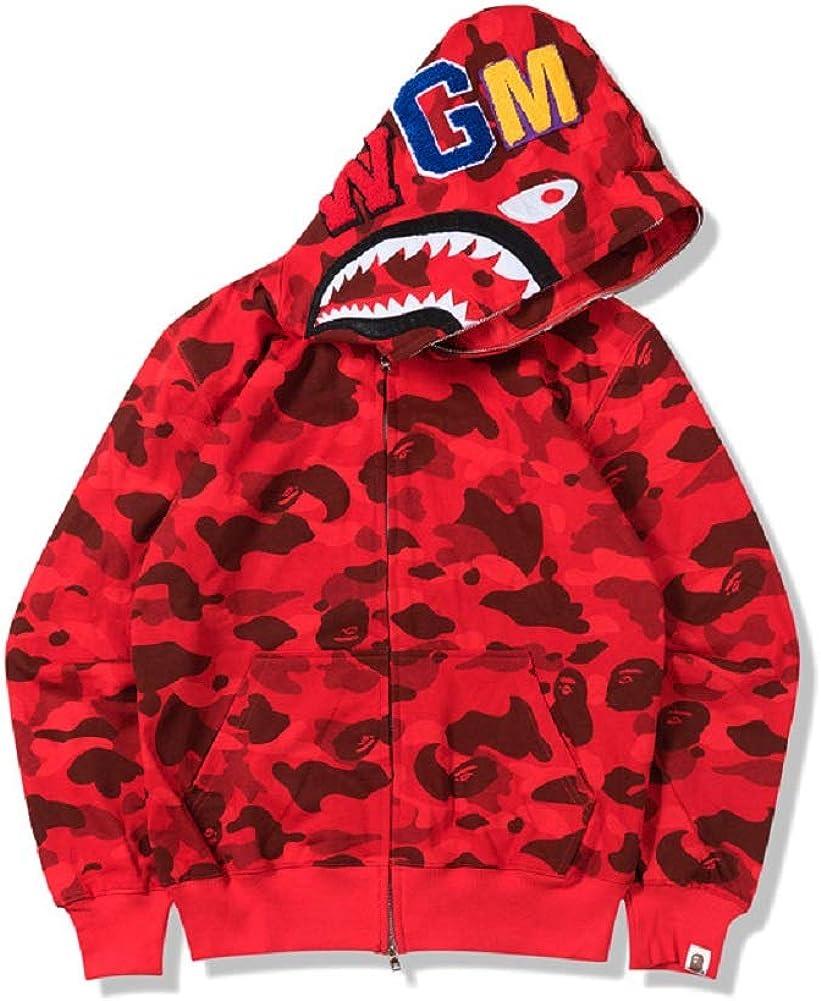 Japan//Bape A Bathing Ape Men/'s Shark Head Jacket Sweats HOODIE BAPE Sweater//Coat
