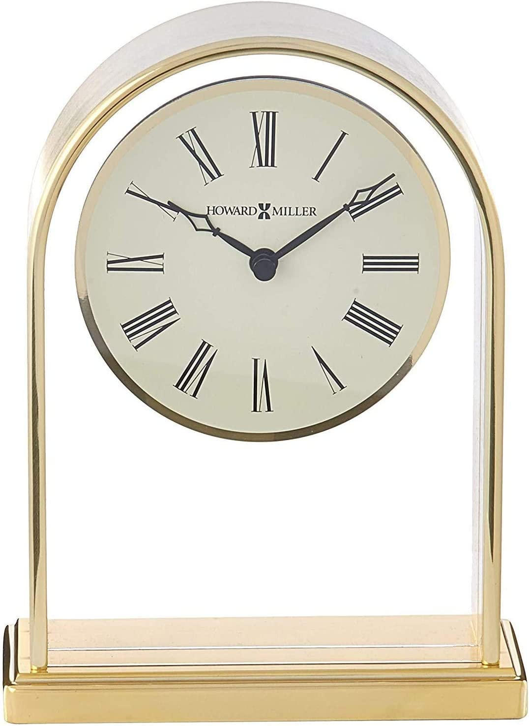 Howard Miller Reminisce Table Clock 613-118 Brass Finish with Quartz Movement