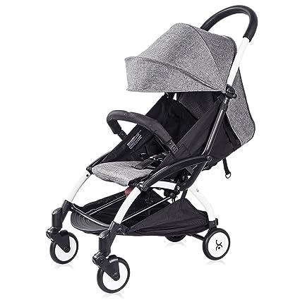 L&L Sillas de Paseo Cochecito de bebé Ligero Plegable Cochecito portátil Puede Sentarse o mentir Mini