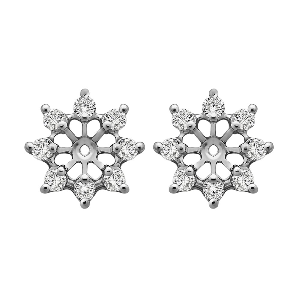 1/3 ct. Cubic Zirconia Star Shaped Stud Earring Jacket in Sterling Silver (0.32 ct. twt.)