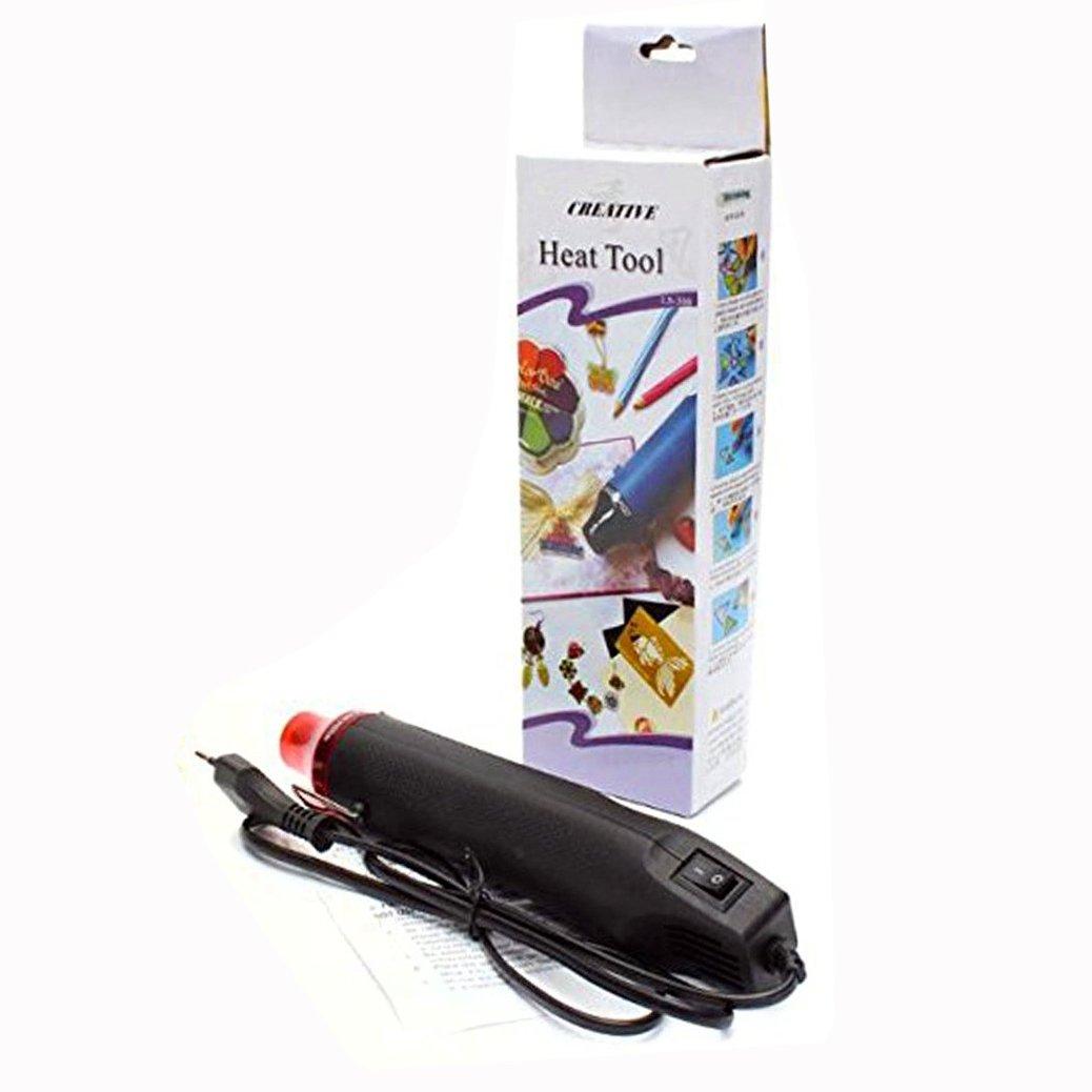 Binnan Mini Pistolet /à Air Chaud Noir 300W Chaud Air Chaleur Outils pour DIY En Relief et R/étr/écir Emballage