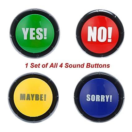 Amazon com: 4Pcs 1Set YES NO Maybe Sorry Button Gag Sound