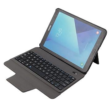 Funda para Samsung Galaxy Tab S3 9.7 Ultra Thin Keyboard Case Ultra Thin Aluminio Teclado Carcasa Smart Cover para Samsung Galaxy Tab S3 9.7 [SM-T820 ...
