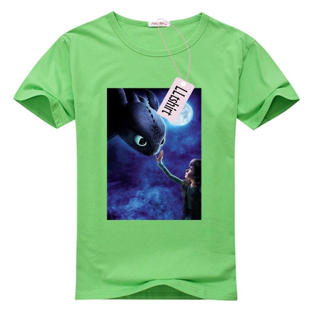 LLtshirt - Toothless Dragon Tshirt, Women's Contrast Tee-shirt (USA Size)