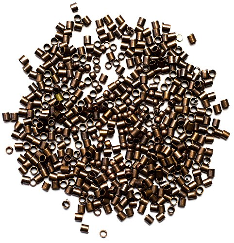 Cousin Jewelry Basics 2mm Crimp Tube/Bead, Copper, 500-Piece