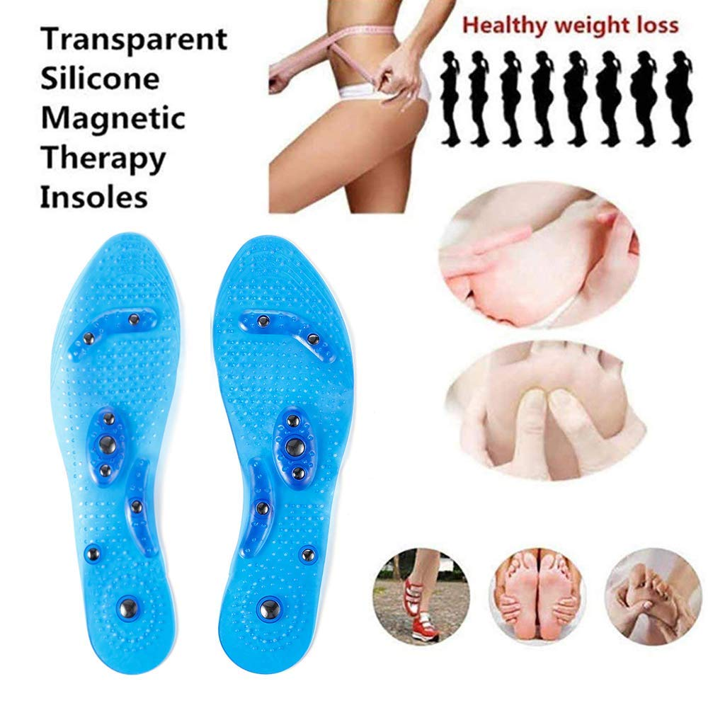 Mespirit MindInSole for Feet Acupressure Magnetic Inserts for Men and Women Massage Foot Therapy Reflexology Pain Relief Helps Burn Fat Cutable Fits Washable(Blue) by Mespirit (Image #7)