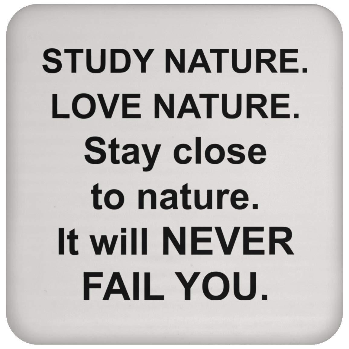 自然コースター - コーヒーティードリンク - 面白いノベルティギフトアイデア 自然キャンプ愛好家 - 101317   B07PQXQRHQ
