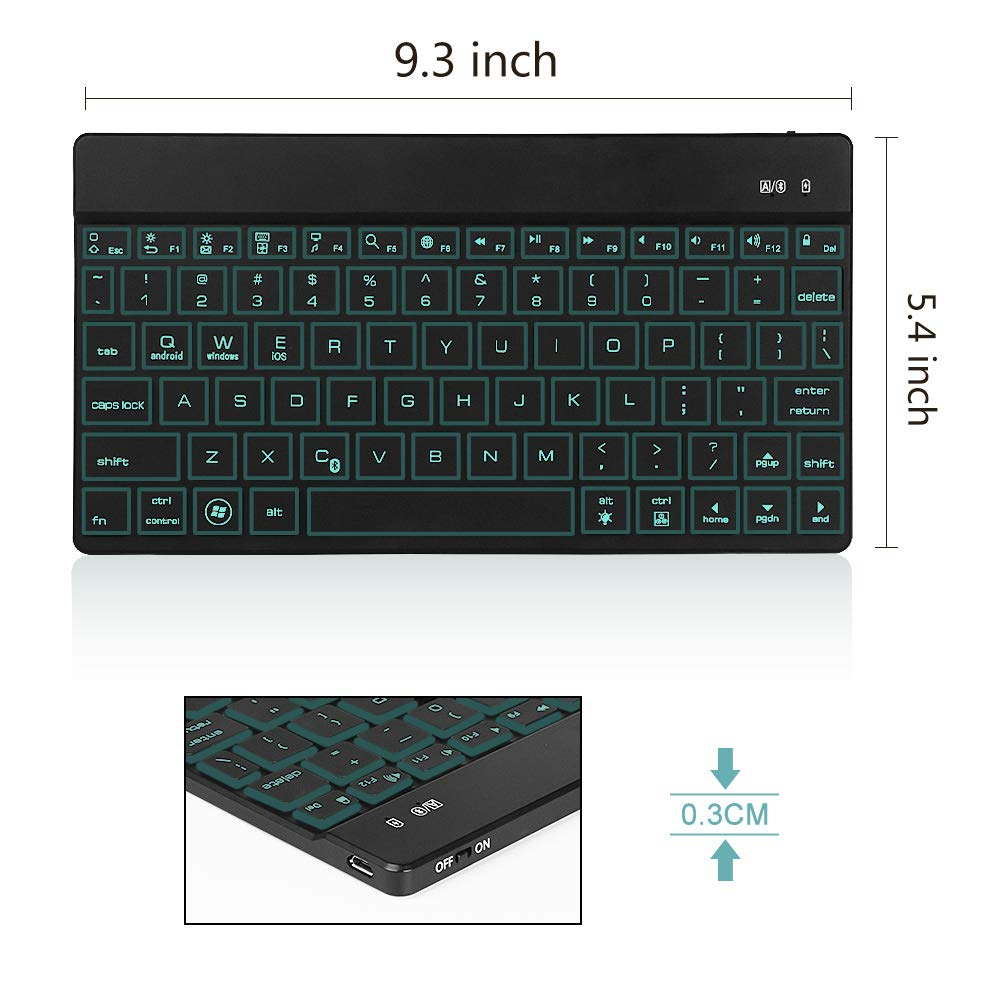 Computers & Accessories Keyboards Wireless Bluetooth Keyboard for ...