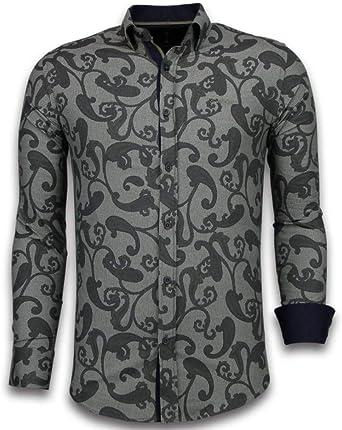 TONY BACKER Camisas Italianas - Slim-fit Camisa Caballero ...