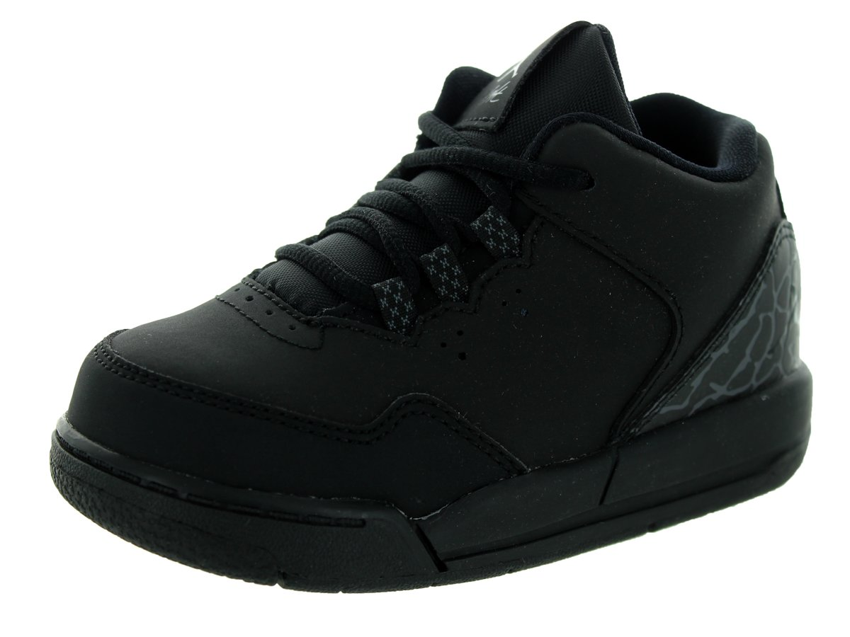 Nike Jordan Toddlers Jordan Flight Origin 2 Bt Black/Black/Dark Grey Basketball Shoe 9 Infants US