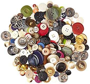 School Specialty 247228 Craft Button Assortment, 1 lb, Assorted Sizes/Colors