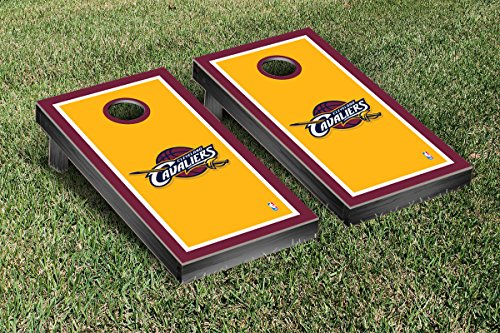 Cleveland Cavaliers NBA Basketball Cornhole Game Set Border Version by Victory Tailgate