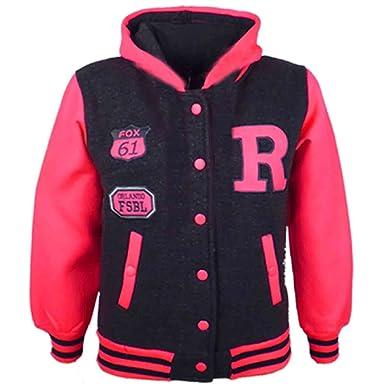28e94a1a80c7 A2Z 4 Kids® Kids Girls Boys R Fashion NYC FOX Baseball Hooded Jacket ...