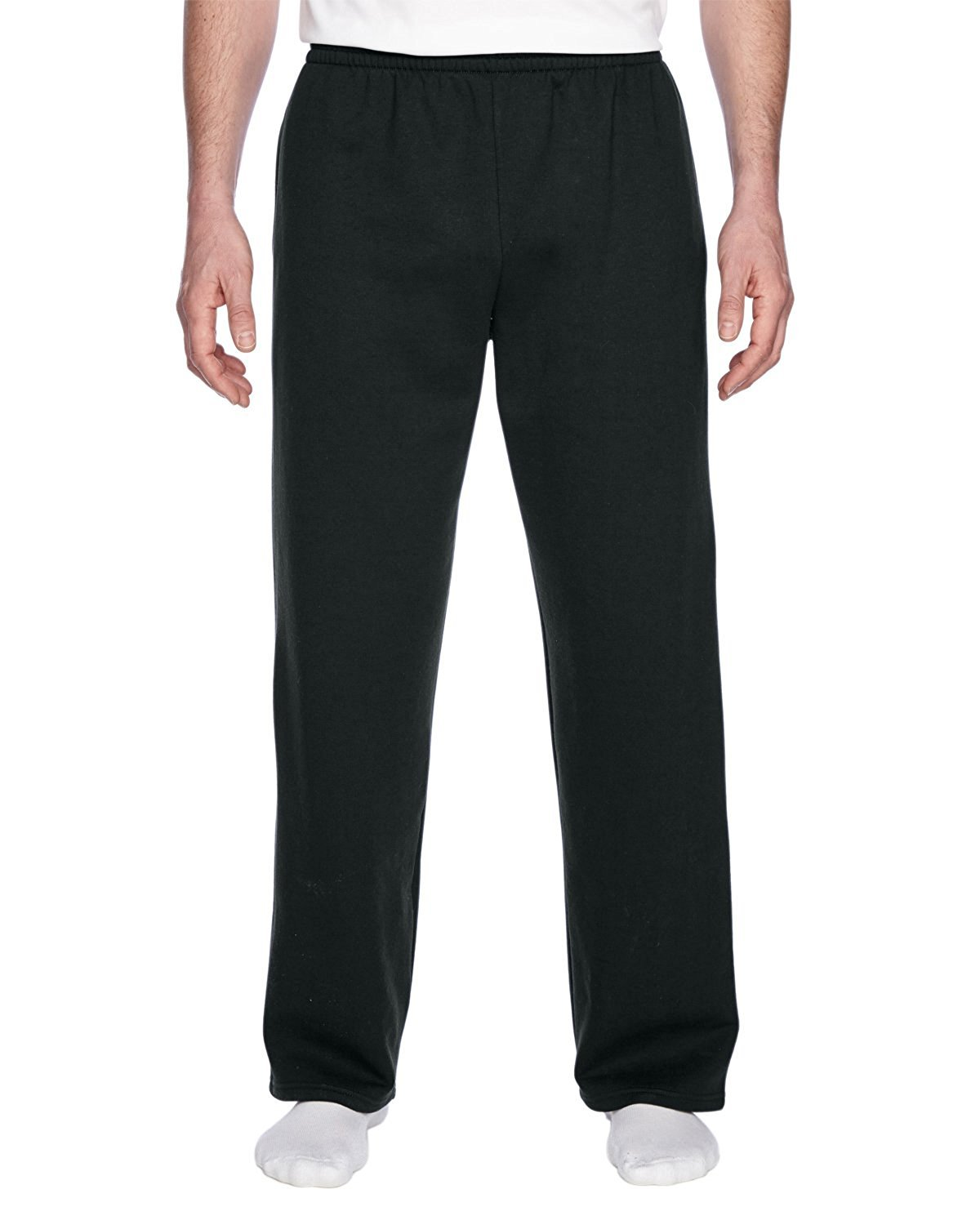 Fruit of the Loom Best Collection™ Men's Fleece Elastic Bottom Pant Medium Black