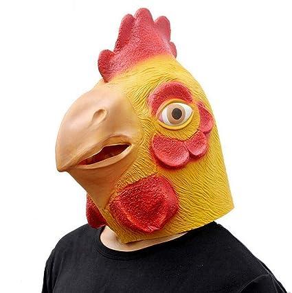 Littlefairy Máscara Halloween,Látex máscara de pollas pollas Felices Juego Divertido cotillón