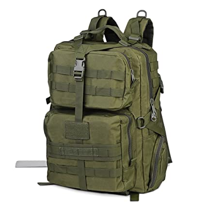 a87732097da0 EISHOW 45L Large Capacity Outdoor Tactical Military Bag Molle Backpack  Water Resistant Backpack Rucksack Daypack for Hiking Camping Trekking  Fishing Hunting