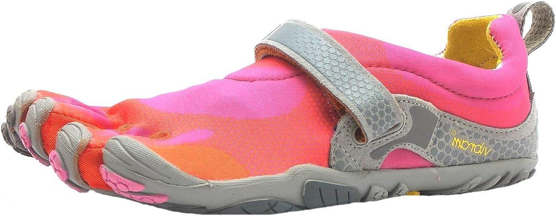 Vibram Five Fingers Bikila - Zapatillas con Dedos para Mujer (Cierre de Velcro), Color Rosa, Naranja y Gris, Color Rosa, Talla 36 (4 UK): Amazon.es: Zapatos y complementos