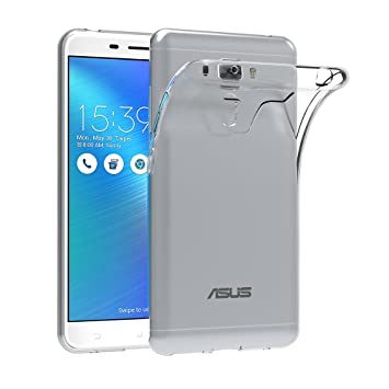 AICEK Funda ASUS ZenFone 3 Laser ZC551KL, ASUS ZenFone 3 Laser Funda Transparente Gel Silicona ASUS ZenFone 3 Laser Premium Carcasa para ZenFone 3 ...