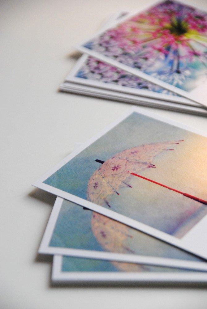 S/ü/ße Fotokarte im Retro Polaroid Stil Bl/üten mint grau