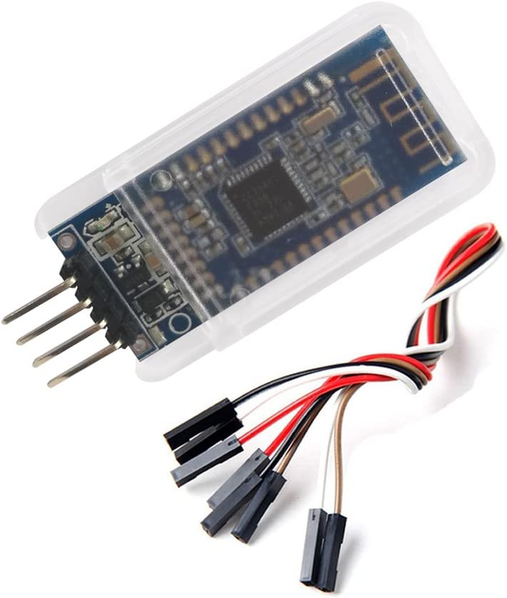 DSD TECH HM-10 Master and Slave Bluetooth 4.0 LE iBeacon Module Compatible with iPhone and iPad with 4 PIN Dupont Cable for Arduino