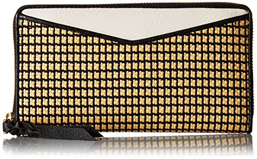 - Fossil Caroline RFID Zip Wallet, Straw Colorblock