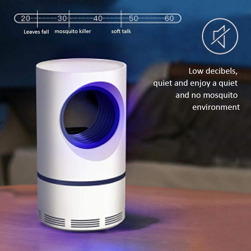 energ/ía segura que funciona con USB Ahorro de energ/ía silencioso y eficiente para el dormitorio en el interior L/ámpara de luz ultravioleta para matar a los mosquitos asesino electr/ónico de insectos