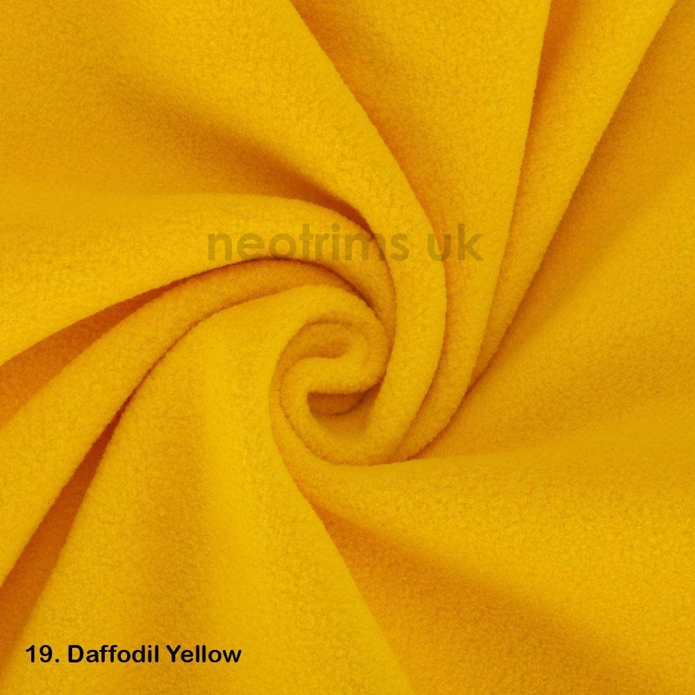 Beautiful Plush Pile for garments Medium 320Grams weight Quality Material home d/écor and crafts International Approved Test Report for Anti Pill Finish Polar Fleece Fabric 27 Fashion Colours