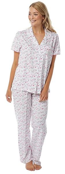 Pijamas tradicionales de manga corta de algodón Marlon para mujer: Amazon.es: Ropa y accesorios