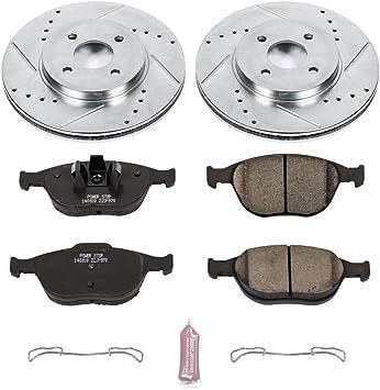Power Stop K6951 Front Brake Kit with Drilled//Slotted Brake Rotors and Z23 Evolution Ceramic Brake Pads