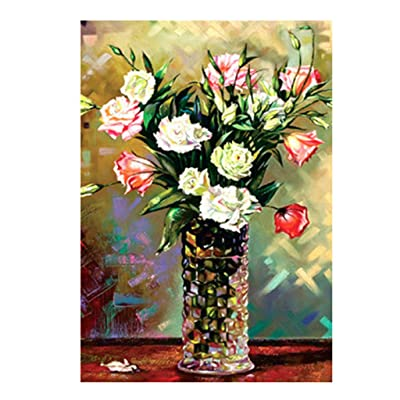 Binory Landscape Jigsaw Puzzles for Adults 150 Pieces, Challenge Picture Puzzle Intelligent Toy Brain Game Personalized Gift for Kids Adults and Seniors - Vase and Flowers: Toys & Games