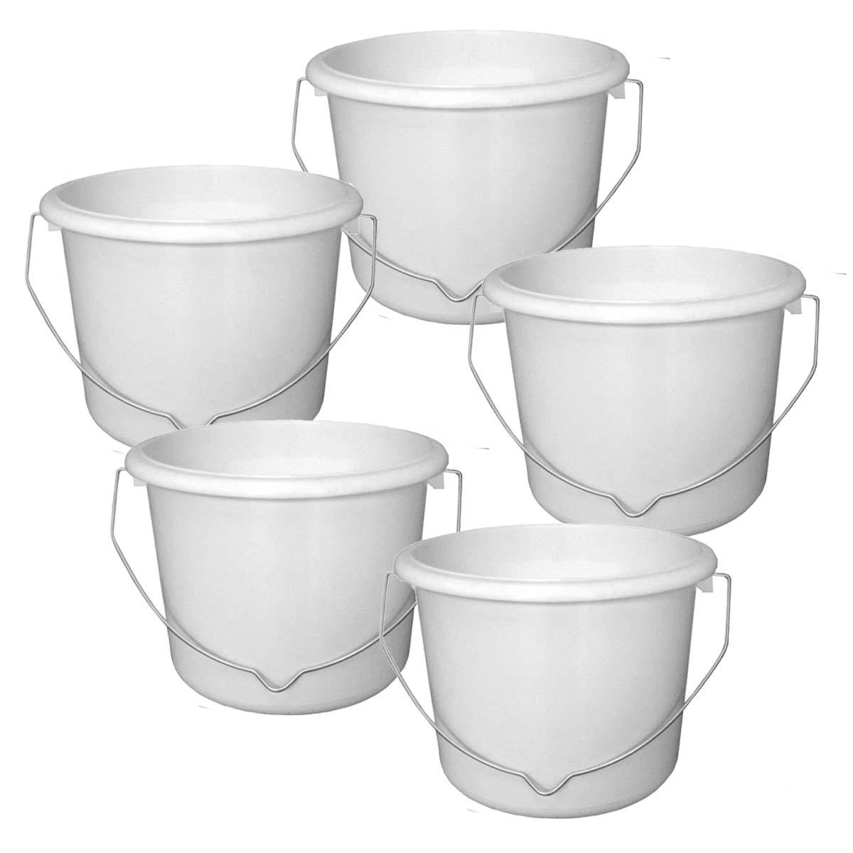 2.5 Litre Plastic Paint Kettle (Set of 5) Painter & Decorators Paint Scuttle Pot Cottam
