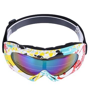 Trendyest à la Poussière Lunettes de Soleil Moto Lunettes de Ski Objectif  Cadre Lunettes, Blanc e1a366412233