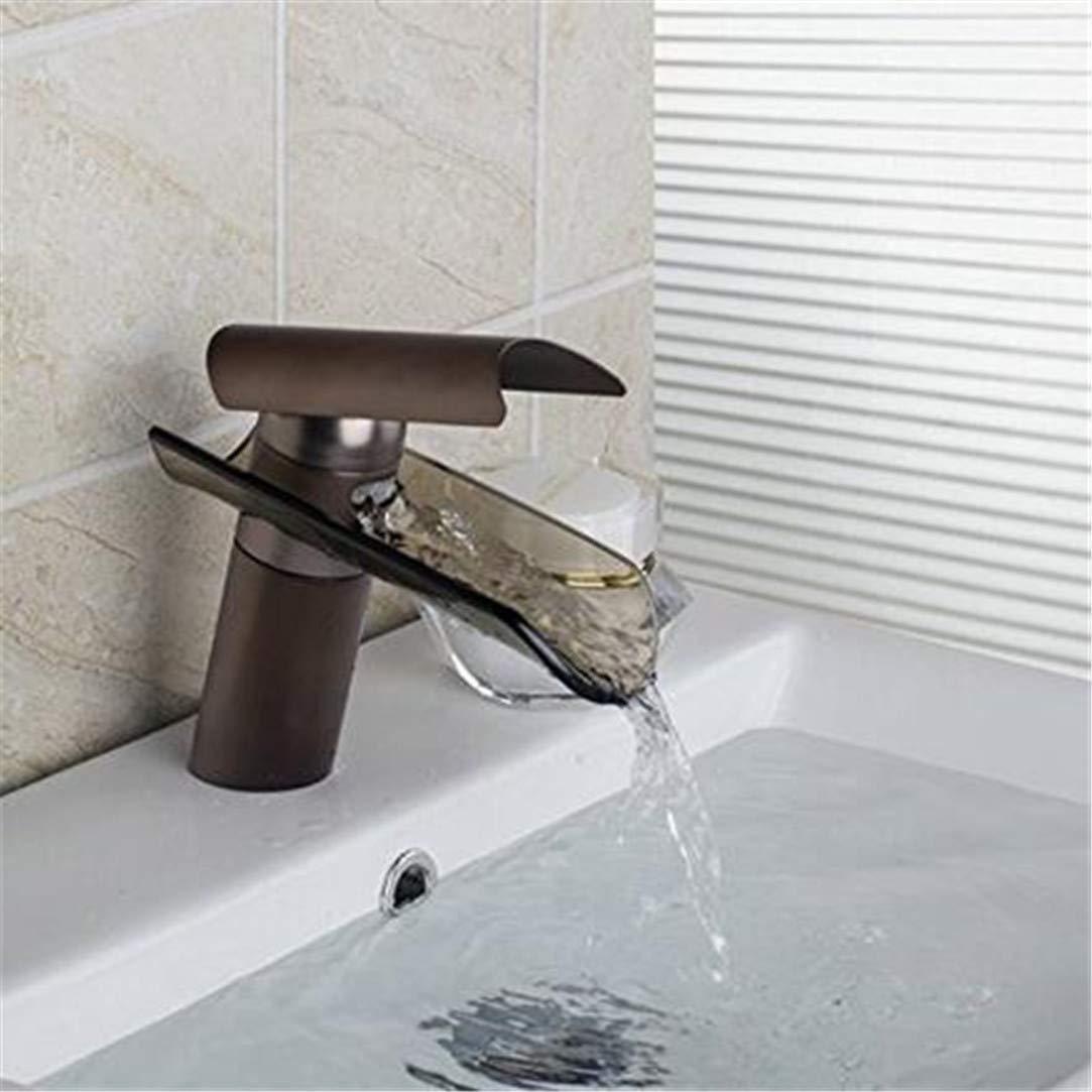 Wasserhahn Waschtischmischer Badezimmer Glas Auslauf Bad Wasserhahn Tank Einlochmontage Mischbatterie