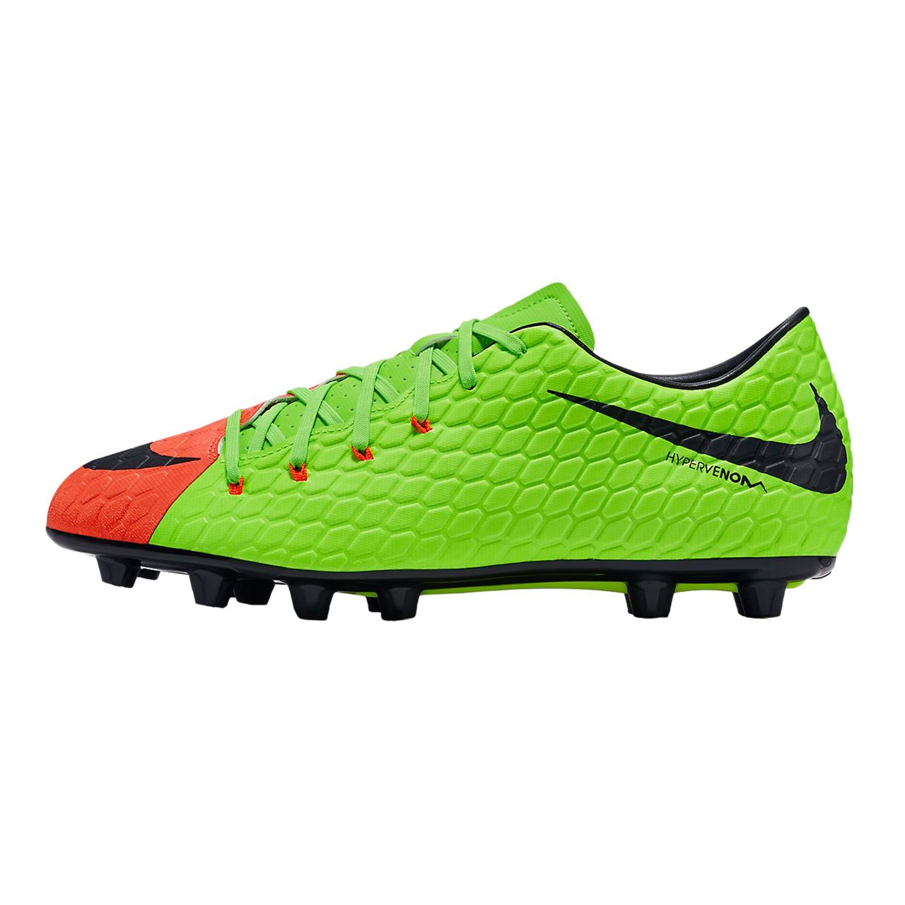 los angeles 4f8d2 61bc1 Nike Hypervenom Synthetic Phelon III Hg-E (Black)  Buy Online at Low Prices  in India - Amazon.in