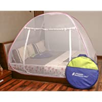 Classic Mosquito Net Foldable King Size,Queen Size & Double Bed (Pink-Design) with Saviours