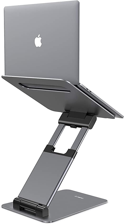 Nulaxy Laptop Stand Ergonomic Sit to Stand Laptop Holder Convertor Adjustable Height from 21 to 138 Supports up to 22lbs Compatible with MacBook All L at Kapruka Online for specialGifts