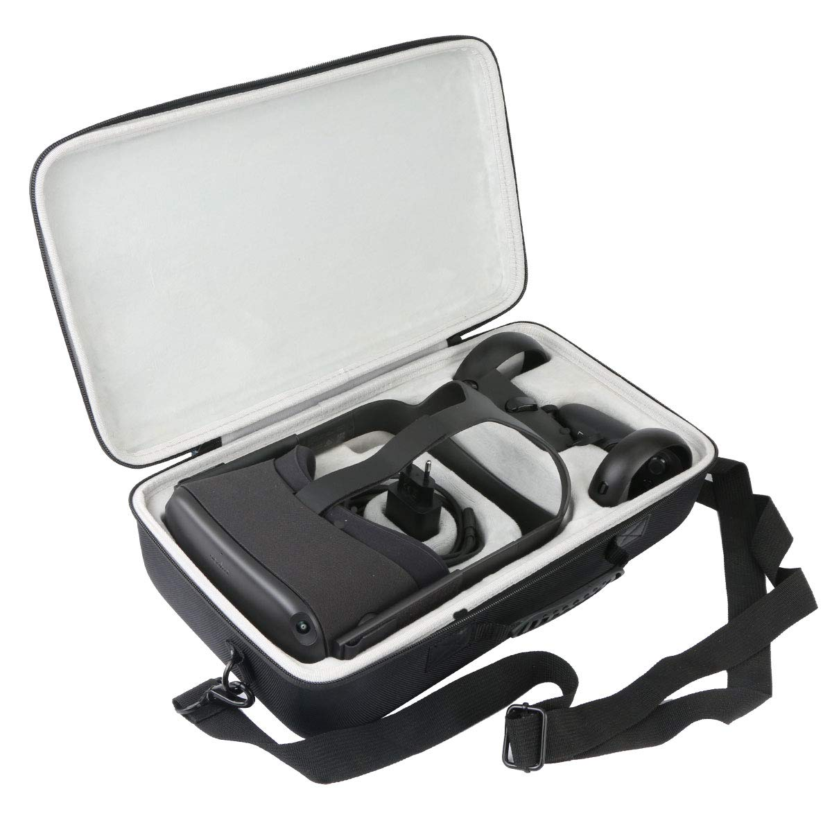 khanka Hard Travel Case for Oculus Quest 2/2020 Edition 3D VR Gaming Headset (Inside White)