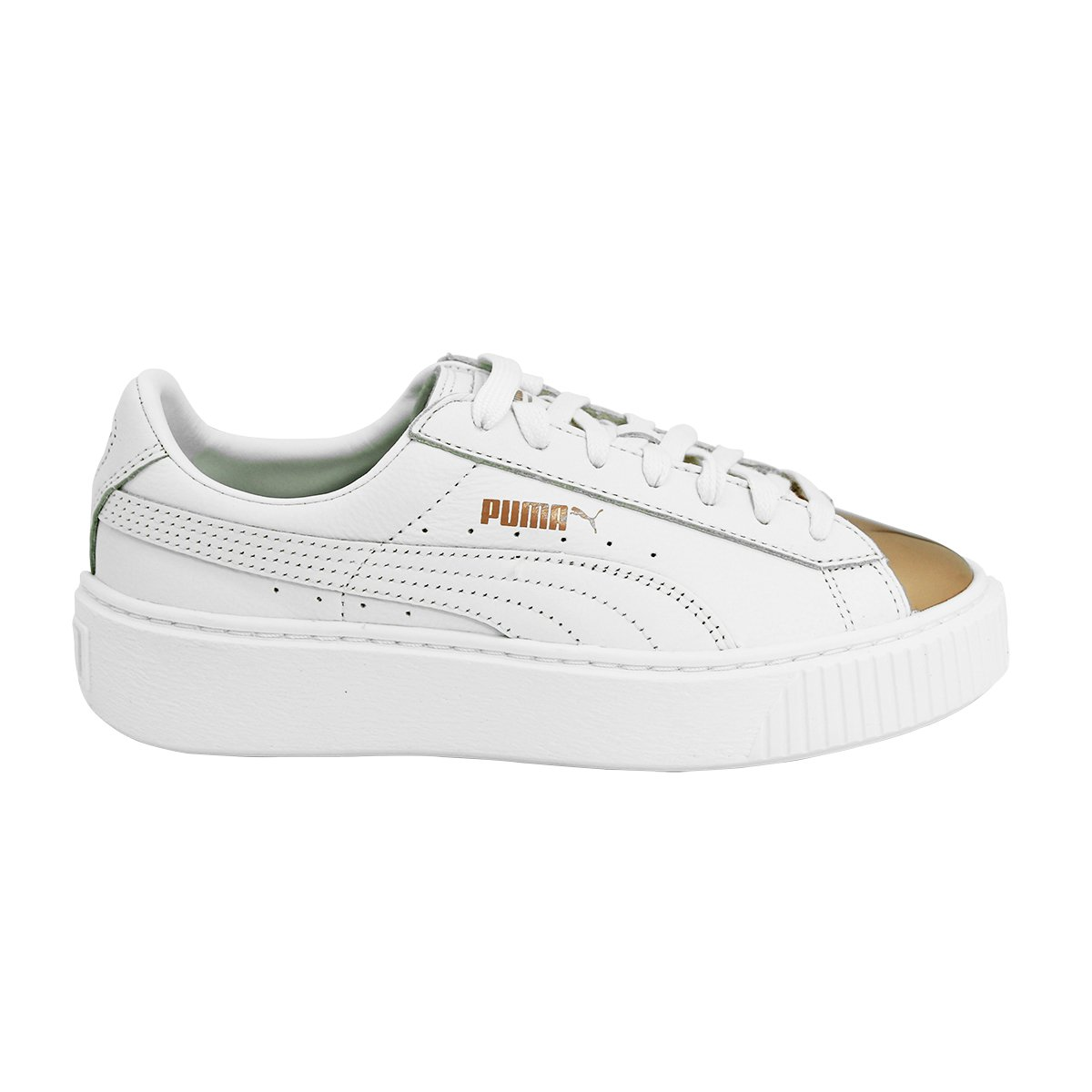Puma Basket Platform Metallic, Sneakers Basses Femme 366169