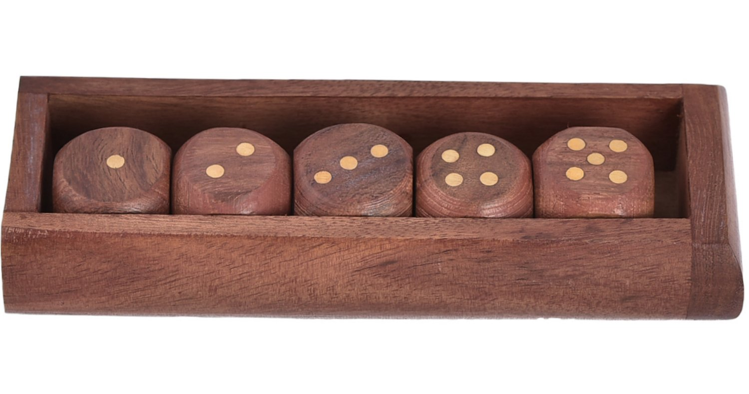 24 Units of Unique Wooden Dice Tray And Box Handcrafted Unusual Gifts - Tabletop Games by ShalinIndia (Image #5)